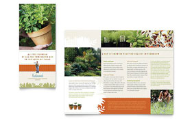 Landscape & Garden Store Brochure - Word Template & Publisher Template
