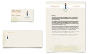 Landscape & Garden Store Business Card & Letterhead - Word Template & Publisher Template