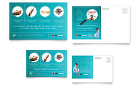Pest Control Services Postcard - Word Template & Publisher Template