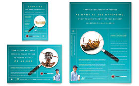 Pest Control Services Flyer & Ad - Word Template & Publisher Template