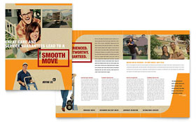 Movers & Moving Company Brochure - Word Template & Publisher Template