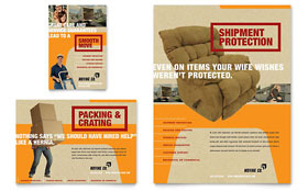 Movers & Moving Company Ad - Word Template & Publisher Template