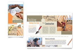 Home Building Carpentry Brochure - Microsoft Office Template