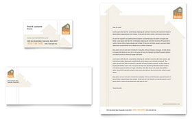 Home Building Carpentry Business Card & Letterhead - Microsoft Office Template