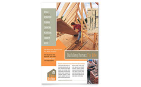 Home Building Carpentry Flyer - Microsoft Office Template
