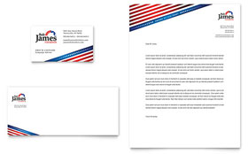 Political Campaign Letterhead - Word Template & Publisher Template