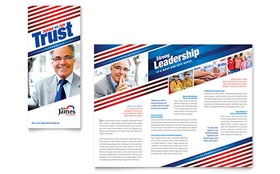 Political Campaign Brochure - Word Template & Publisher Template