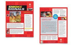Fire Safety Newsletter - Word Template & Publisher Template