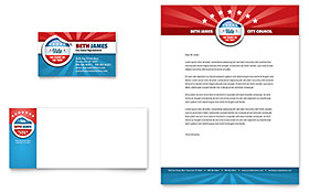 Political Candidate Letterhead - Word Template & Publisher Template