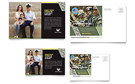 Military Postcard - Word Template & Publisher Template
