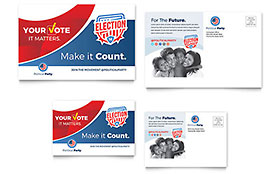Election Postcard Template