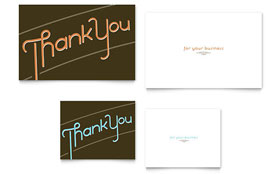 Thank You Note Card - Word Template & Publisher Template
