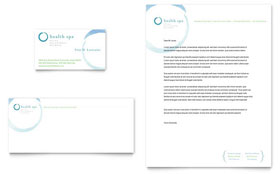Day Spa & Resort Letterhead - Word Template & Publisher Template
