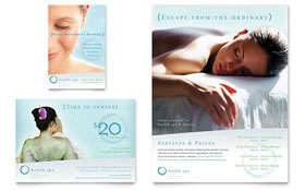 Day Spa & Resort Flyer & Ad - Microsoft Office Template