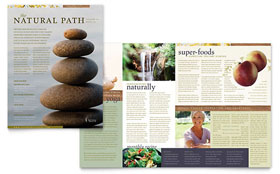 Naturopathic Medicine Newsletter - Word Template & Publisher Template