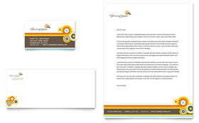 Tanning Salon Business Card & Letterhead - Word & Publisher Template