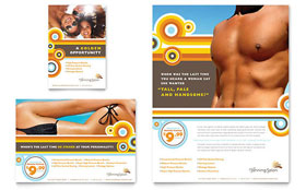 Tanning Salon Flyer & Ad - Microsoft Office Template
