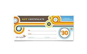 Tanning Salon - Gift Certificate Template