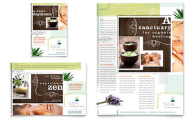 Day Spa Flyer & Ad - Microsoft Office Template
