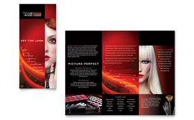 Makeup Artist Tri Fold Brochure - Word Template & Publisher Template