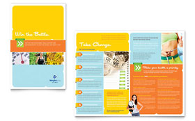 Weight Loss Clinic Brochure - Word Template & Publisher Template