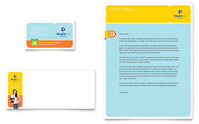 Weight Loss Clinic Business Card & Letterhead - Microsoft Office Template