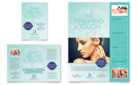 Nail Technician Flyer & Ad - Word Template & Publisher Template