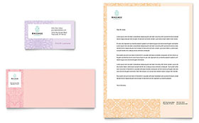 Massage Letterhead - Word Template & Publisher Template