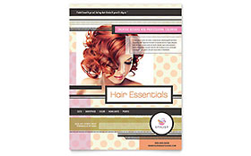 Hairstylist Leaflet Template
