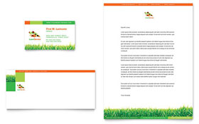 Lawn Maintenance Letterhead - Word Template & Publisher Template