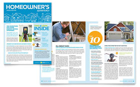 Home Inspection & Inspector Newsletter - Word Template & Publisher Template
