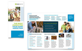 Home Inspection & Inspector Tri Fold Brochure - Word Template & Publisher Template