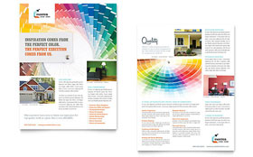 House Painting Contractor Datasheet - Word Template & Publisher Template