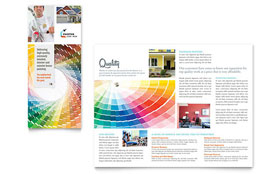 House Painting Contractor Tri Fold Brochure - Word Template & Publisher Template