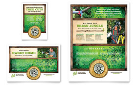 Tree Service Flyer & Ad - Word Template & Publisher Template
