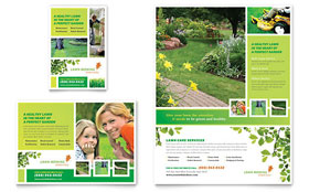Lawn Mowing Service Flyer & Ad - Word Template & Publisher Template