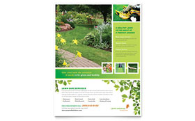 Lawn Mowing Service Flyer - Word Template & Publisher Template