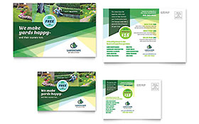 Landscaper Postcard - Word Template & Publisher Template