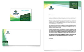 Landscaper Business Card & Letterhead - Word & Publisher Template