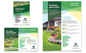 Landscaper Ad - Word Template & Publisher Template