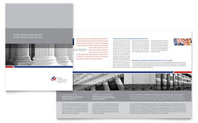 Legal & Government Services Brochure - Word Template & Publisher Template