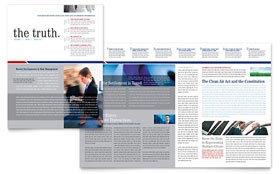 Legal & Government Services Newsletter - Word Template & Publisher Template