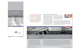 Legal & Government Services Tri Fold Brochure - Word Template & Publisher Template