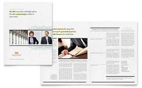 Attorney Brochure - Word Template & Publisher Template