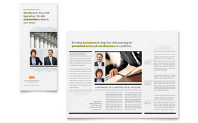 Attorney Tri Fold Brochure - Word Template & Publisher Template