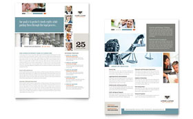 Family Law Attorneys Datasheet - Word Template & Publisher Template