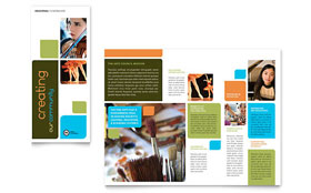 Arts Council & Education Brochure - Word Template & Publisher Template