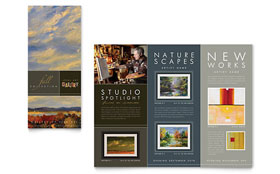 Art Gallery & Artist Tri Fold Brochure - Word Template & Publisher Template