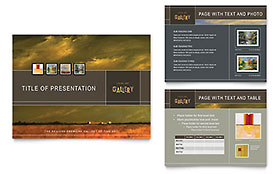 Art Gallery & Artist - PowerPoint Presentation Template