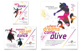 Kid's Dance Studio Flyer & Ad - Word Template & Publisher Template